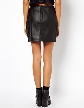 ASOS | ASOS Mini Skirt in Leather Look at ASOS