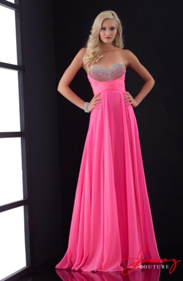 dress, pink dress, sparkling dress, prom dress, long prom dress ...