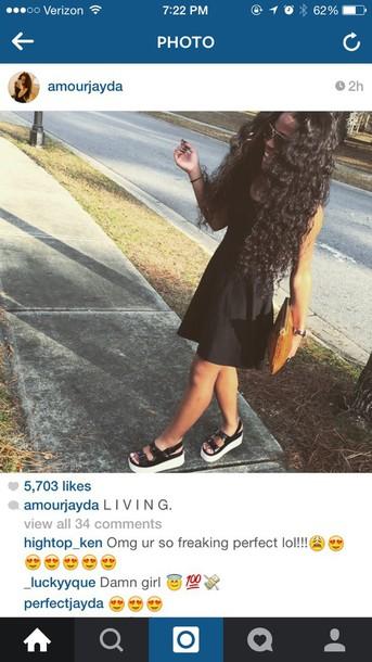 shoes fashion flatforms sandals instagram tumblr style dress