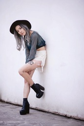 feral creature,top,jewels,shoes,cleated sole,bulky,platform shoes,platform high heels,high heels,boots,shorts,jeffrey campbell,tattoo,blogger,goth hipster,crop tops,earrings,summer outfits,goth,grunge,edgy