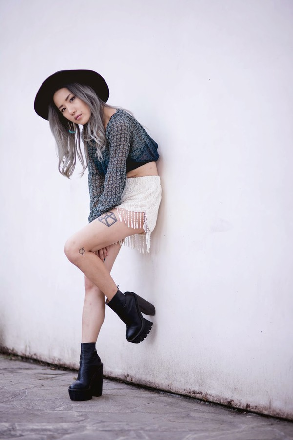 feral creature top jewels shoes cleated sole bulky platform shoes platform high heels high heels boots shorts jeffrey campbell tattoo blogger goth hipster crop tops earrings summer outfits goth grunge edgy