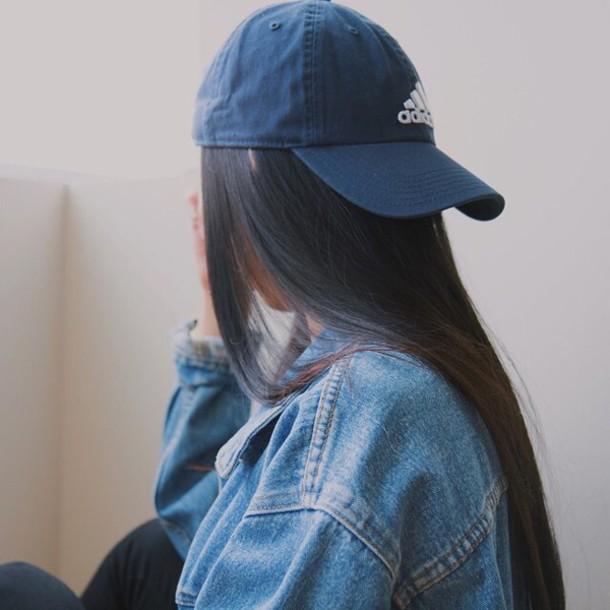 hat blue adidas