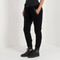 Velour and satin track pant - black