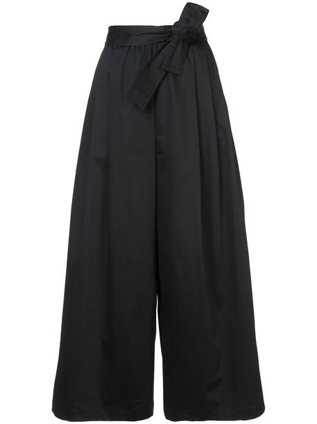 Tome cropped women cotton black pants