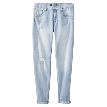 Low-Rise Destructed Skinny Boyfriend Jeans - Mossimo®