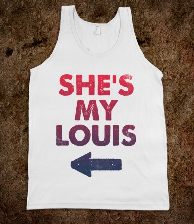 She's My Louis (Tank) - B F F - Skreened T-shirts, Organic Shirts, Hoodies, Kids Tees, Baby One-Pieces and Tote Bags Custom T-Shirts, Organic Shirts, Hoodies, Novelty Gifts, Kids Apparel, Baby One-Pieces | Skreened - Ethical Custom Apparel
