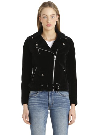 jacket biker jacket velvet black