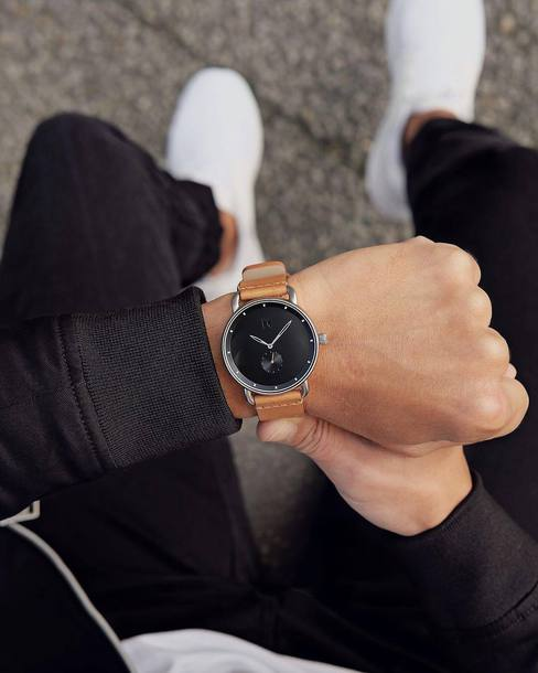 jewels mvmt watches mvmt accessories Accessory watch leather watch black watch mens watch