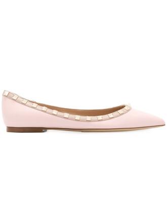 metal women leather purple pink shoes