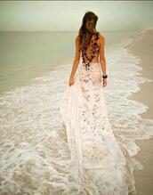 beach,crochet,lace skirt,skirt,boho wedding dress,maxi skirt,beach wedding,dress