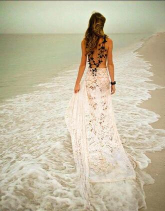 beach crochet lace skirt skirt boho wedding dress maxi skirt beach wedding dress