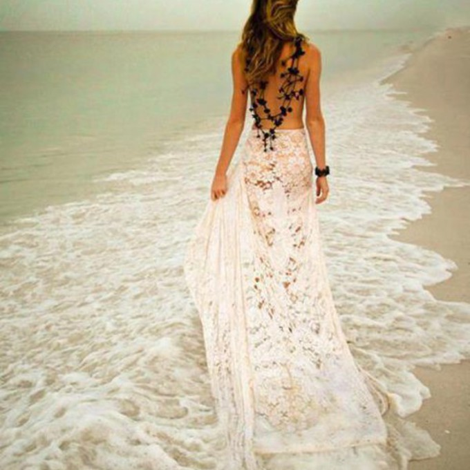 Crochet skirt maxi skirt beach lace skirt boho wedding for Lace maxi wedding dress