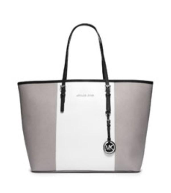 bag michael kors grey handbag