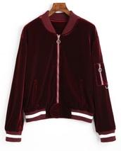 jacket,girly,red,velvet,zip,zip-up,zip up jacket