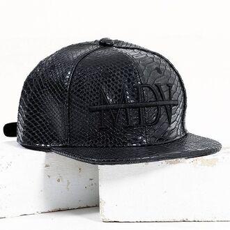 hat maniere de voir cap snake emossed snapback embroidered mdv