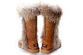 shoes,brown fox fur ugg