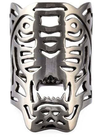 tiger ring metallic jewels