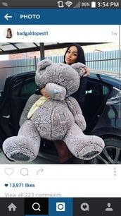 home accessory,teddy bear,grey,oversized teddy bear,huge,bear,cute,giant teddy bear