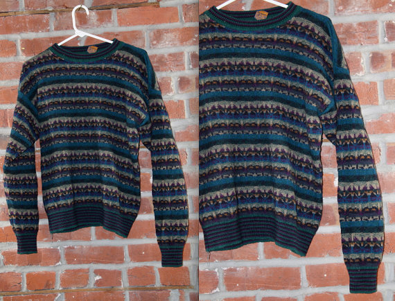 Pendleton cool pattern sweater // vintage by besosvintage on etsy