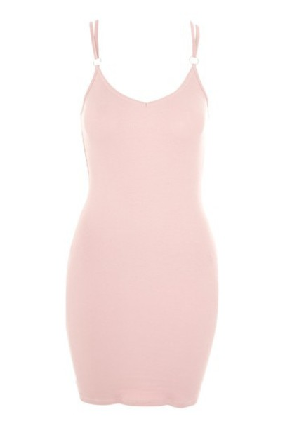 Topshop dress bodycon bodycon dress back strappy nude