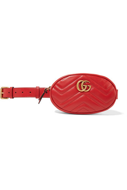 gucci belt bag quilted bag leather red