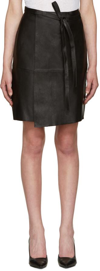 skirt leather black black leather
