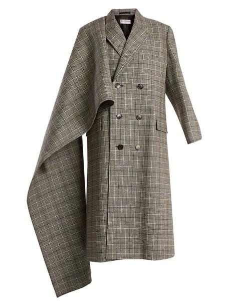 Balenciaga coat grey