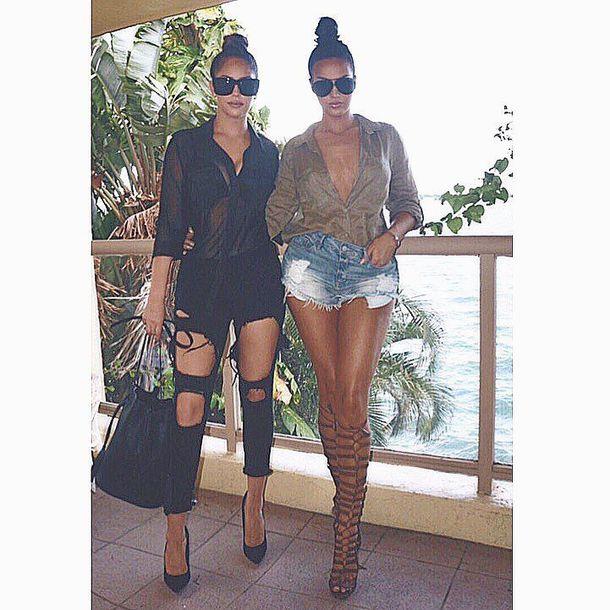 a8337b9d7 blouse shorts denim shorts sunglasses gladiators knee high gladiator  sandals black jeans bag
