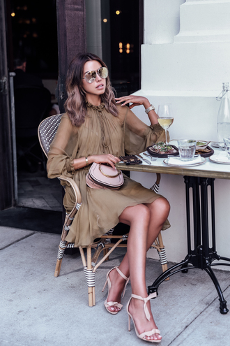viva luxury blogger sunglasses jewels dress beige dress sandals high heel sandals spring outfits
