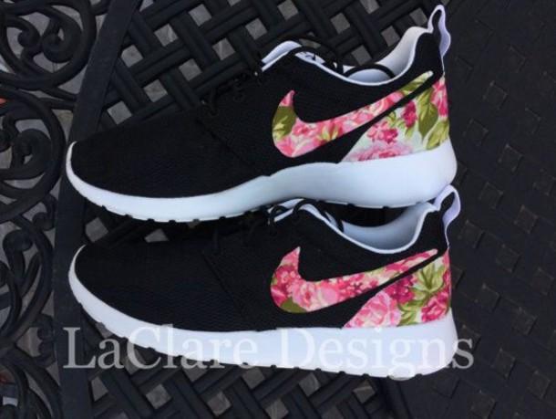 shoes floral nike shoes