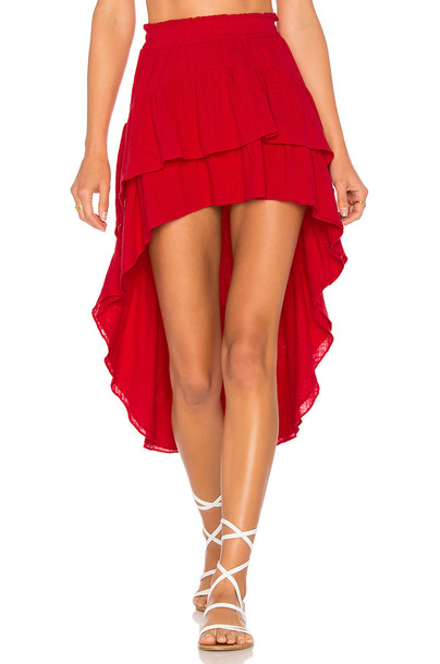 Misa Los Angeles skirt red