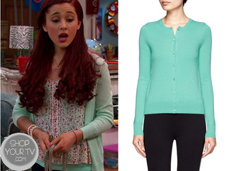 jacket ariana grande cat valentine blouse cardigan mint floral top