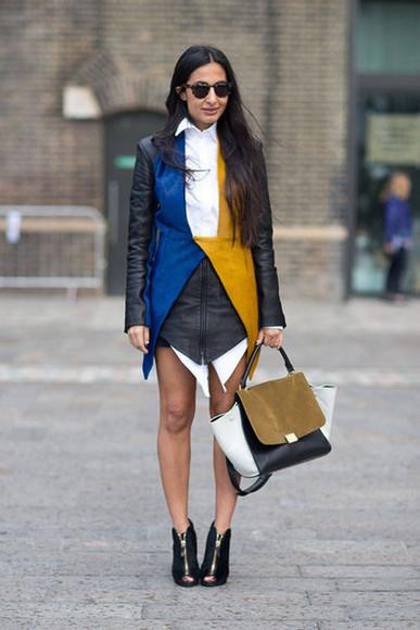 jacket vest dress fashion week 2014 fall outfits streetstyle