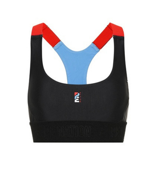 P.E Nation Forecourt Crop sports bra in black