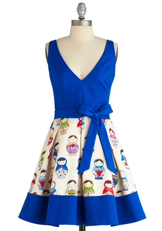 dress doll blue dress pin up