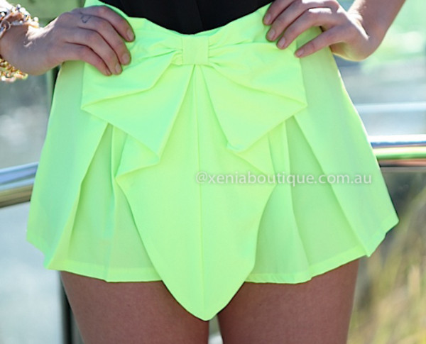 shorts fluo neon\ neon yellow neon