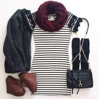 dress striped dress black and white lace