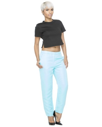 pants powder blue blue pants spring spring outfits
