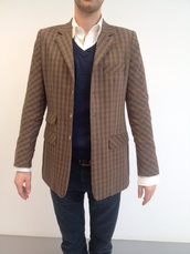 jacket,mens blazer,tartan,tartan jacket,menswear,blazer,mens jacket
