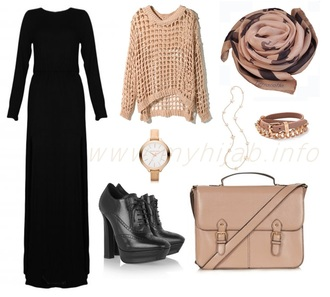 sweater see trough sweater knitted sweater knitwear black maxi dress muslim outfit dress