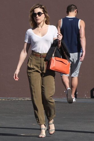 pants top sandals sophia bush