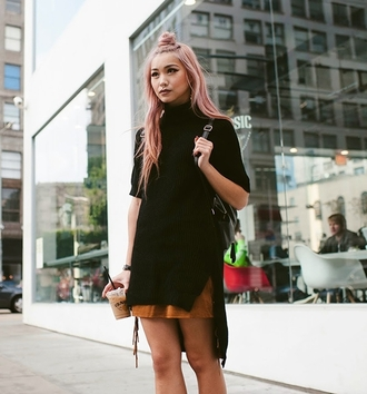 top black fashion style cool summer turtleneck streetstyle red lime sunday
