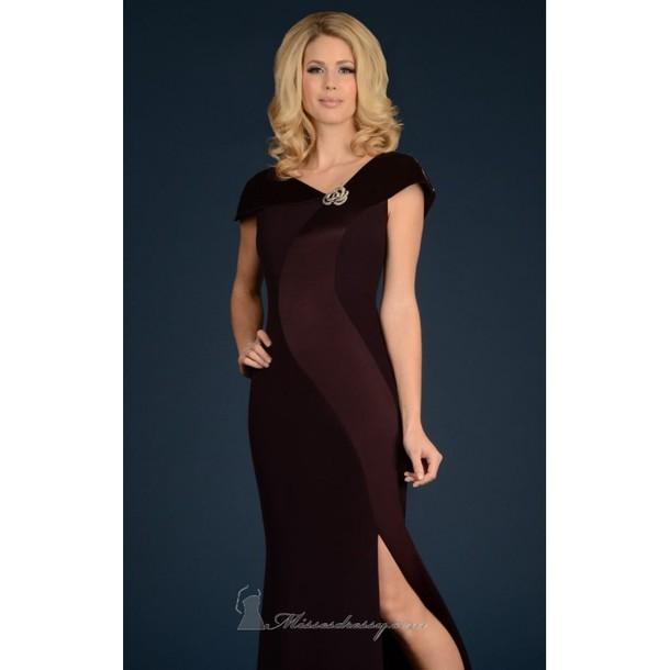 dress bonny rebecca asymmetrical necklace gown