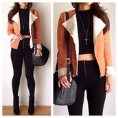 shirt,jacket,crop tops,high waisted jeans,bag,jeans,jewels,hat,jacked,high heels,follow me babies,clothes,coat