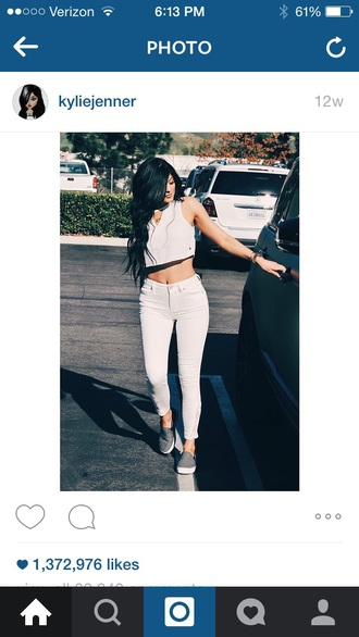 jeans kylie jenner white jeans