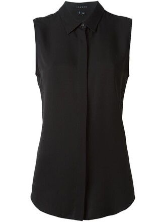 shirt sleeveless shirt sleeveless black top