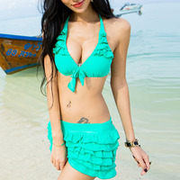 NewYorkscene | Candy Color Flounce Bikini Set Swimwear Swim Suit  | Online Store Powered by Storenvy
