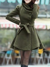 coat,olive green,winter coat,winter outfits