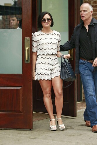 shorts top demi lovato sandals summer outfits shoes