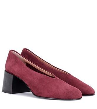 suede pumps pumps suede purple shoes